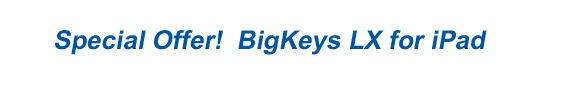 Special Offer! BigKeys LX for iPad