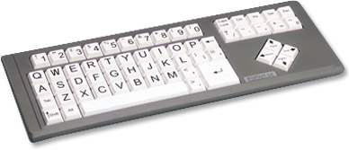 BigKeys LX with white keys in QWERTY order